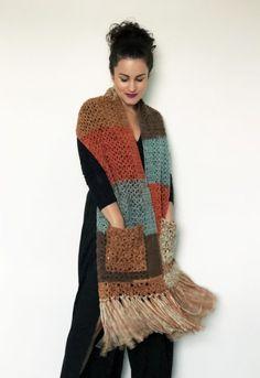 Crochet Fabric, Crochet Scarves, Crochet Shawl, Knit Crochet, Knitting Stitches, Knitting Designs, Knitting Patterns, Crochet Patterns, Fingerless Gloves Crochet Pattern