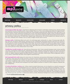 Music Array Website Templates by Di