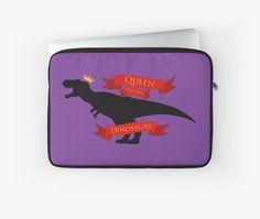 Queen of the Dinosaurs Laptop Sleeve #dinosaurs #jurassic #trex #tyrannosaurus #rex