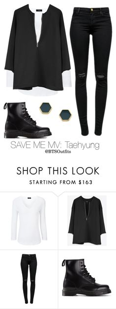 """""""Save Me MV: Taehyung"""" by btsoutfits ❤ liked on Polyvore featuring Joseph, J Brand, Dr. Martens and Gorjana"""