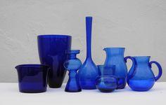 Our  vintage 'Bristol Blue Glass Collection £480.00