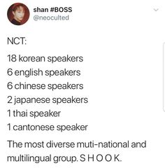 Imagine nct 2018 wins album of the year and they give speeches in every language bITCH THE FOUR THAT ONE TIME HAD EVERYONE SHOOK TO THE CORE IMAGINE 6