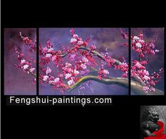 Abstract Art Cherry Blossom Painting Feng Shui Painting 64 ...