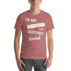 Selectively Social  T-Shirt - Mauve / XL