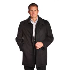This classic Jean-Paul Germain Denver coat features a 4-button front over a zippr bib insert and a double collar for a layered look. A warm wool-blend shell with a soft quilted body lining makes this an excellent 3-season coat.