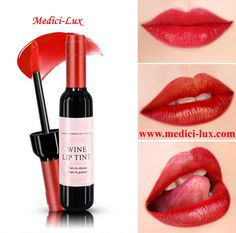 Hot Red Wine Bottle Stained Lip Gloss Matte Lipstick Tint Liquid Lipstick Makeup Easy to Wear Waterproof Non-stick Lipgloss Wine Lip Tint, Tint Lipstick, Wine Lips, Best Red Lipstick, Lipstick For Fair Skin, Long Wear Lipstick, Lipgloss, Lipstick Colors, Red Lipsticks
