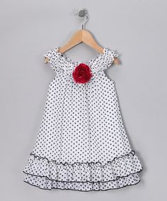 Take a look at this White & Black Polka Dot Dress - Infant & Toddler by Pink Vanilla on #zulily today!