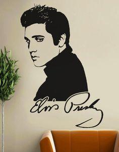 LARGE! ELVIS PRESLEY Wall Decal - Autograph Wall Sticker Art   eBay