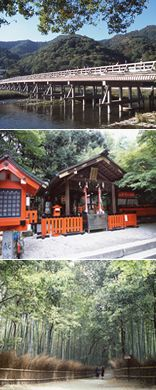 Togetsu-kyo Bridge, Nonomiya Shrine, Bamboo Grove Path