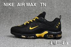 brand new feedc a3afc Nike Air Max TN Men s Running Shoes Black Yellow  SIM006260