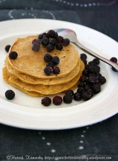 Fruity pancakes for one! These are soooo good and its just one serving.