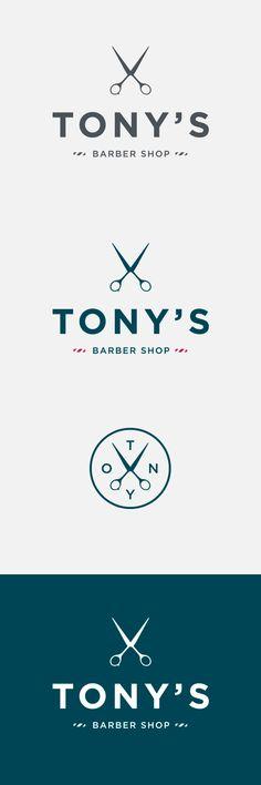 barber shop logo, branding