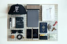 Essentials: Eugene Tong Edc Essentials, Fashion Essentials, What In My Bag, What's In Your Bag, Men Fashion Photo, Mens Fashion, High Fashion, Eugene Tong, Things Organized Neatly