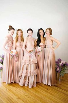flexible style and size bridesmaid dresses