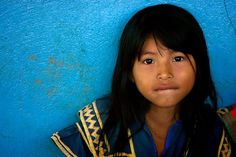 Guaymi indian girl, Panama Central America