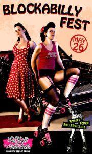 One Love Roller Dolls >< Romsey Town Rollerbillies! #BlockabillyFest   Be there!