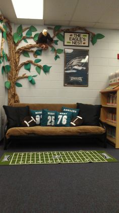 Philadelphia Eagles Classroom Reading Area --- so cute for where ever I end up teaching! Get these kids excited about reading time!