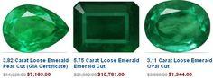 Emerald Gemstones Displaying Different Cuts