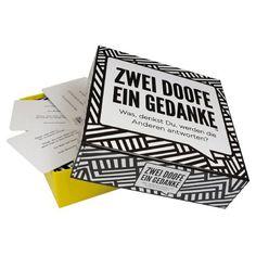Kylskapspoesi AB Gesellschaftsspiel Zwei Doofe ein Gedanke online kaufen ➜ Bestellen Sie Gesellschaftsspiel Zwei Doofe ein Gedanke für nur 21,95€ im design3000.de Online Shop - versandkostenfreie Lieferung ab €!