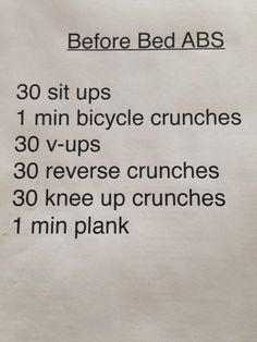 Before bed abdominal workout. Before bed abdominal workout. More from my siteFlat Abs in 5 Minutes Cardio, Fitness Tips, Fitness Motivation, Health Fitness, Fitness Challenges, Exercise Motivation, Bedtime Workout, Bedtime Routines, Before Bed Workout