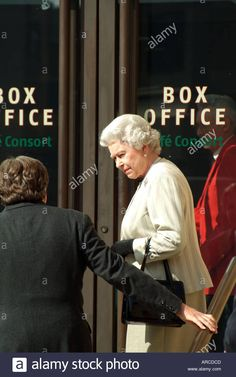 Her Majesty Queen Elizabeth Second arriving London Royal Albert Hall official opening of South Porch improvements - Stock Image