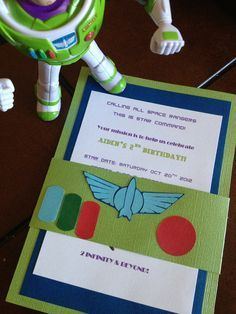 Buzz Lightyear Birthday Invites by SimplyLinnnCreations on Etsy, $2.25