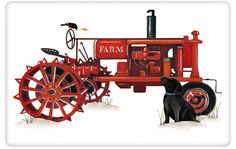Black Lab and red antique farm tractor dish towel tea towel. www,aloveofdishtowels.com