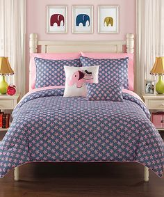 Look at this Pink Zoe Bedding Set on #zulily today!