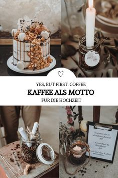 Motto ideas for the wedding: Implement coffee as a theme such as wedding ceremon. Wedding Ceremony, Party, Table Decorations, Hacks, Coffee, Drinks, Ideas, Wedding Ideas, Theme Ideas