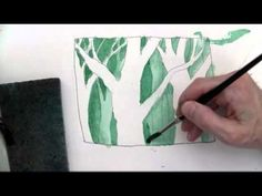 brilliant negative space speeded up video   A Value Painting Exercise great guy doing the narration