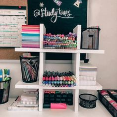 Omgg comment all heart emojis if you love this stationery organization!🌈 Anyway, you can get popular stationery such as MUJI style gel pens, Zebra Mildliner highlighters, 'Mildliner' style highlighter Study Room Decor, Cute Room Decor, Bedroom Decor, Dream Rooms, New Room, Dorm Room, Stationery, Decoration, Post Its