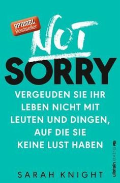 a book with career advice Sarah Knight - Not Sorry