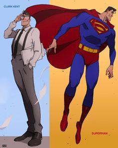 Clark Kent, Superman Artwork, Arte Nerd, Superhero Design, Dc Comics Art, Red Hood, Dc Heroes, Xmen, Dc Universe
