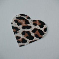 Grand coeur panthère (5 cm) à appliquer