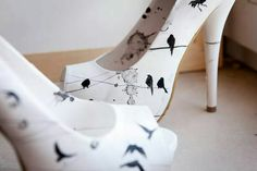 Lora Zombie Hand Painted Shoes.  Want!