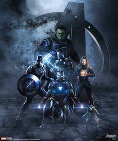 Avengers endgame fan art the avengers marvel. Marvel Comics, Marvel Vs, Marvel Heroes, Captain Marvel, Captain America, The Avengers, Iron Man Avengers, Avengers Movies, Comic Movies
