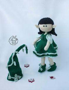 Elf doll knitted flat Knitting pattern by Simplytoys13 Boucle Yarn, Elf Doll, Halloween Books, Lang Yarns, Plymouth Yarn, Cascade Yarn, Paintbox Yarn, Dog Sweaters, Red Heart Yarn