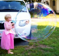Homemade Bubble Recipes: Homemade bubbles can add joy and wonderment to your toddler's day. 1 cup water, 2 tablespoons light corn syrup (or glycerin), 4 tablespoons dish soap. This recipe worked well for me!