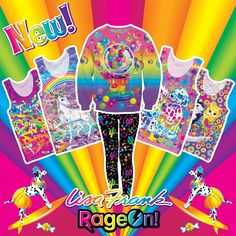 [shop link in bio] New designs available now!! Lisa Frank adult clothing at RageOn.com