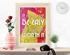 PRINTABLE Art, Inspirational quote, Motivational print, digital print, poster printable, colorful wall art, pdf jpeg, success quote by InArtPrints on Etsy