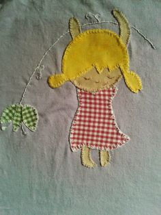Sweet handmade things - patchwork: Camiseta Nena Flor Patchwork