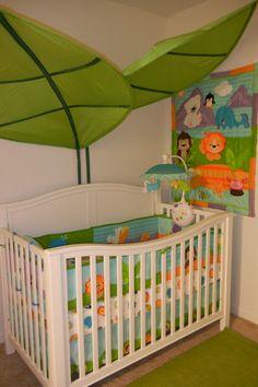 Precious Planet Bedding & IKEA Leaves Canopy