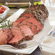 Juicy herbed beef tenderloin tastes delicious when accompanied by Creamy Horseradish Sauce. English cucumber adds an unexpected crunch to...