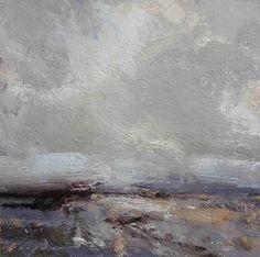 """Cool Horizon by Simon Addyman Oil ~ 6"""" x 6"""""""