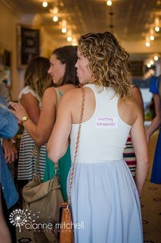 "Celebrity Mom Baby Shower Game! When people arrived we stuck labels with a celebrity mom on their back. To get the party started, they had to ask other people ""yes or no"" questions about themselves to figure out who they were! Examples: Am I a singer? Do I only have one child? The game was a hit!"