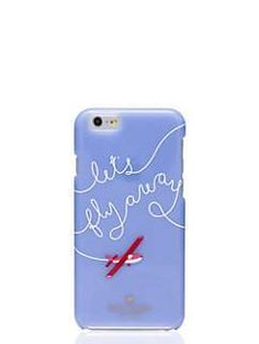 let's fly away iphone 6 case - kate spade new york Cell Phone Covers, Iphone 6 Cases, Cool Phone Cases, Take Me Away, Travel Store, Diy Case, Flies Away, Travel Gifts, How To Introduce Yourself