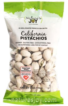 Nature's Joy 4 ounce pistachios.  The perfect size for snacking.  Take them with you where ever you go.