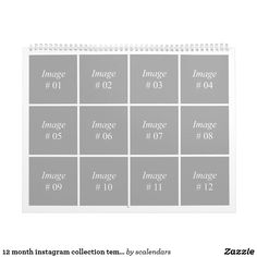 12 month instagram collection template