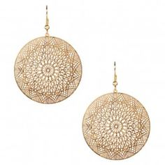 Cutout Round Earring
