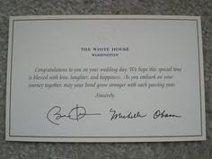 Detroit Michigan Wedding Planner Blog: Don't Forget to Send the Obama's an Invitation!
